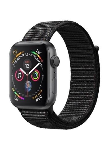 Apple Seri 4 40mm GPS Uzay Grisi Alüminyum Kasa ve Siyah Spor Loop - (MU672TU/A) Renkli